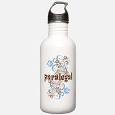 Paralegal Gift Floral Swirl Water Bottle