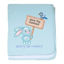 save the bunnies! baby blanket