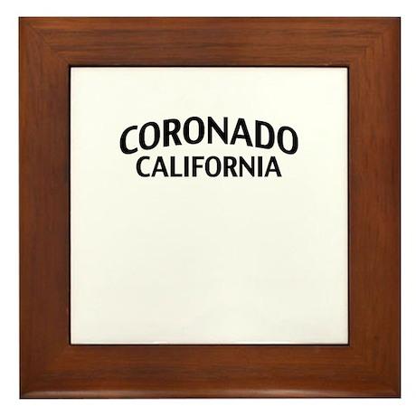 Coronado California Framed Tile