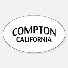 Compton California Sticker (Oval)