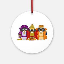 Three Wise Penguins (Round)