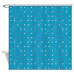 Bluesy Blue Circuitry Shower Curtain