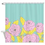 Bold Bloom Lavender Shower Curtain