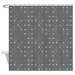 Gray Circuitry Shower Curtain