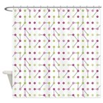 Pink Green Circuitry Shower Curtain