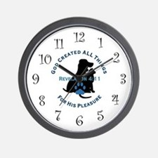 God Loves Animals Wall Clock