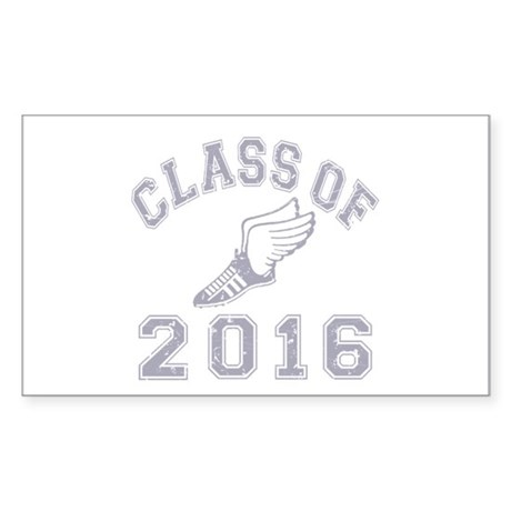Class of 2016 Track & Field Sticker (Rectangle)