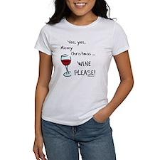Christmas wine Tee