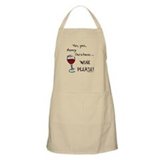 Christmas wine Apron