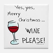 Christmas wine Tile Coaster