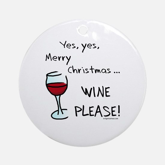 Christmas wine Ornament (Round)