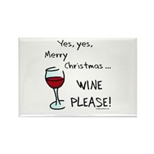 Christmas wine Rectangle Magnet