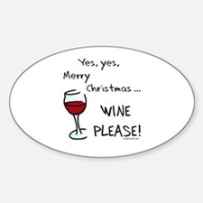 Christmas wine Decal