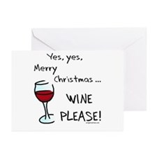 Christmas wine Greeting Cards (Pk of 10)