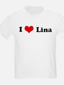 I Love Lina Kids T-Shirt