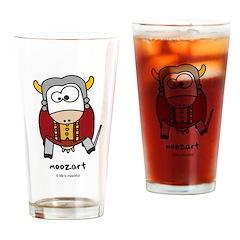 Moozart Drinking Glass