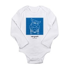 moo print Long Sleeve Infant Bodysuit