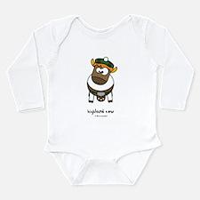 highland cow Long Sleeve Infant Bodysuit
