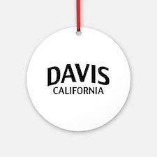 Davis California Ornament (Round)