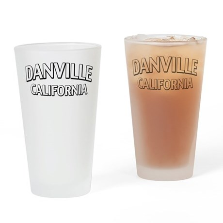 Danville California Drinking Glass