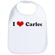 I Love Carlee Bib