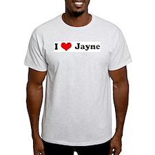 I Love Jayne Ash Grey T-Shirt