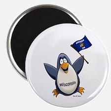 Wisconsin Penguin Magnet