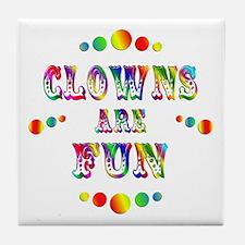 Clowns are Fun Tile Coaster