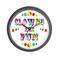 Clowns are Fun Wall Clock