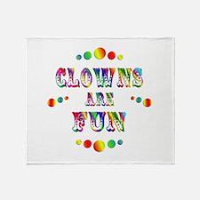 Clowns are Fun Throw Blanket