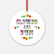 Clowns are Fun Ornament (Round)