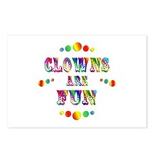 Clowns are Fun Postcards (Package of 8)