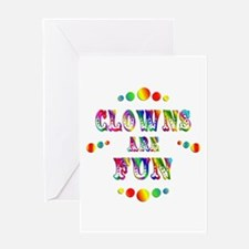 Clowns are Fun Greeting Card