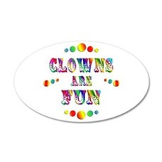 Clowns are Fun 22x14 Oval Wall Peel