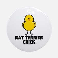 Rat Terrier Chick Ornament (Round)