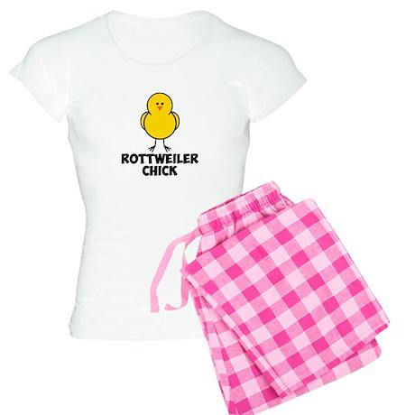 Rottweiler Chick Women's Light Pajamas