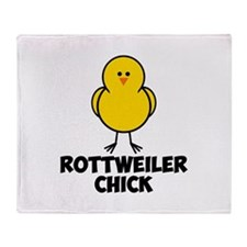 Rottweiler Chick Throw Blanket