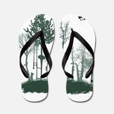 A Natural Band Flip Flops