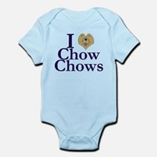 I Heart Chows Infant Bodysuit