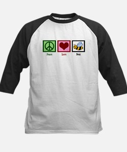 Peace Love Bees Kids Baseball Jersey
