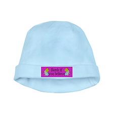 I Believe in Fairies baby hat