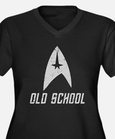 Star Trek Old School 2 Women's Plus Size V-Neck Da