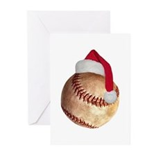 baseball_ball_santa Greeting Cards