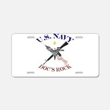 Funny Doc Aluminum License Plate