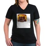 For Businesses Women's V-Neck Dark T-Shirt
