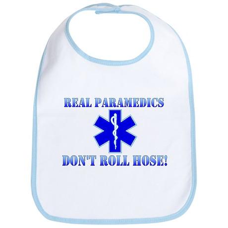 Paramedics Dont Roll Hose Blue Bib