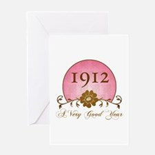 1912 A Very Good Year Greeting Card