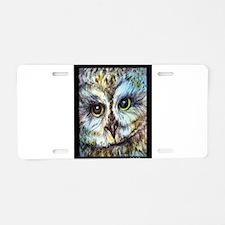 Owl, wildlife art, Aluminum License Plate