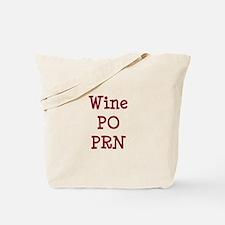 Wine PO PRN Tote Bag