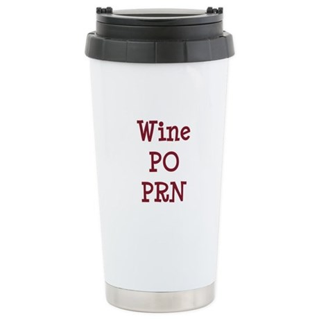 Wine PO PRN Stainless Steel Travel Mug